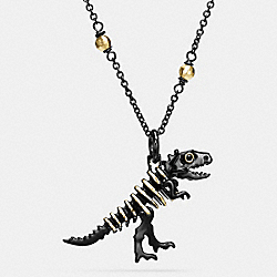 REXY NECKLACE - BLACK/GOLD - COACH F55216