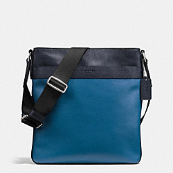 CHARLES CROSSBODY IN COLORBLOCK LEATHER - f55362 - MIDNIGHT/DENIM