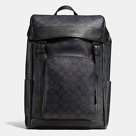 COACH f55391 HENRY BACKPACK IN SIGNATURE BLACK/BLACK