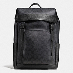 HENRY BACKPACK IN SIGNATURE - f55391 - BLACK/BLACK