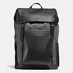 COACH HENRY BACKPACK IN WOOL - GRAY - F55405
