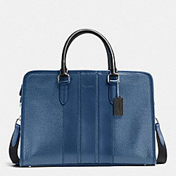BOND BRIEF IN PEBBLE LEATHER - INDIGO/BLACK - COACH F55409