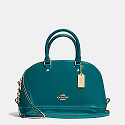 MINI SIERRA SATCHEL IN PATENT LEATHER - f55445 - IMITATION GOLD/ATLANTIC