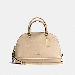 COACH SIERRA SATCHEL IN SIGNATURE DEBOSSED PATENT LEATHER - IMITATION GOLD/PLATINUM - F55449