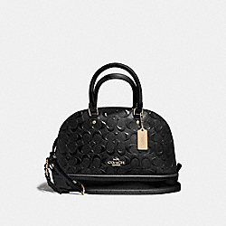 COACH MINI SIERRA SATCHEL - LIGHT GOLD/BLACK - F55450