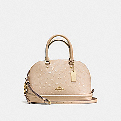 MINI SIERRA SATCHEL IN SIGNATURE DEBOSSED PATENT LEATHER - f55450 - IMITATION GOLD/PLATINUM