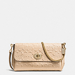 RUBY CROSSBODY IN SIGNATURE DEBOSSED PATENT LEATHER - f55452 - IMITATION GOLD/PLATINUM