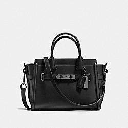 COACH SWAGGER 27 - BLACK/DARK GUNMETAL - COACH F55496