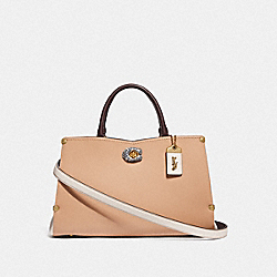 MASON CARRYALL IN COLORBLOCK WITH SNAKESKIN DETAIL - B4/BEECHWOOD CHALK - COACH F55599