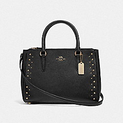 SURREY CARRYALL WITH STUDS - BLACK/IMITATION GOLD - COACH F55600