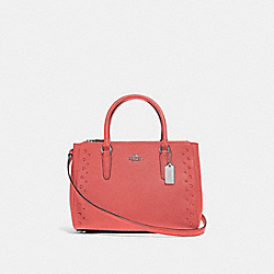 SURREY CARRYALL WITH STUDS - CORAL/SILVER - COACH F55600