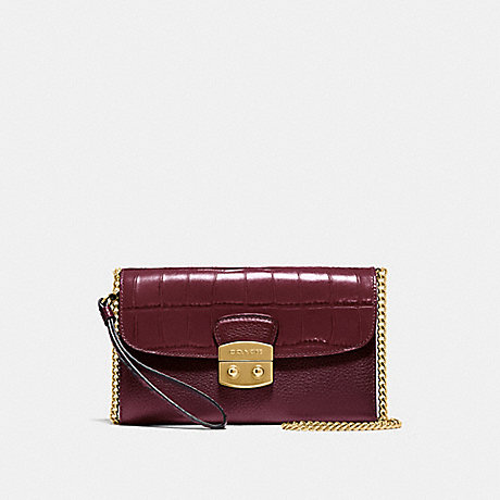 COACH CHAIN CROSSBODY - WINE/IMITATION GOLD - F55617