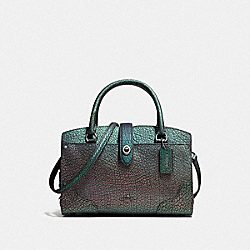 COACH MERCER SATCHEL 24 IN HOLOGRAM LEATHER - DARK GUNMETAL/HOLOGRAM - F55622