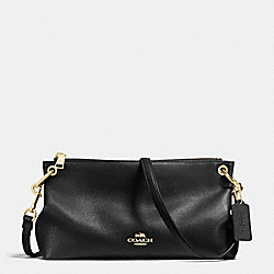 CHARLEY CROSSBODY IN PEBBLE LEATHER - f55661 - IMITATION GOLD/BLACK