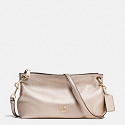 CHARLEY CROSSBODY IN PEBBLE LEATHER - f55661 - IMITATION GOLD/PLATINUM