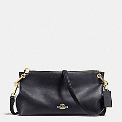 CHARLEY CROSSBODY IN PEBBLE LEATHER - f55661 - IMITATION GOLD/MIDNIGHT