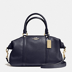 CENTRAL SATCHEL IN PEBBLE LEATHER - f55662 - IMITATION GOLD/MIDNIGHT