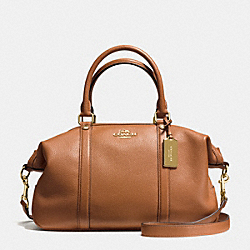 CENTRAL SATCHEL IN PEBBLE LEATHER - f55662 - IMITATION GOLD/SADDLE