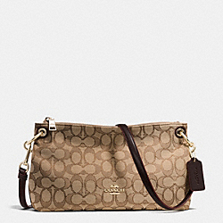 CHARLEY CROSSBODY IN SIGNATURE - f55663 - IMITATION GOLD/KHAKI/BROWN