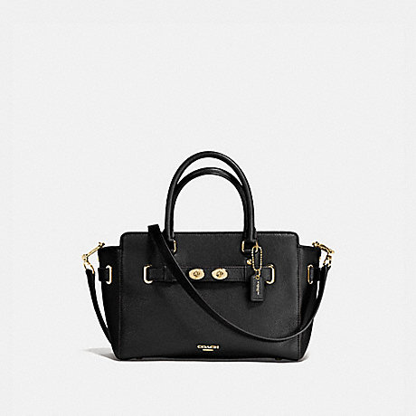 COACH f55665 BLAKE CARRYALL 25 IN BUBBLE LEATHER IMITATION GOLD/BLACK