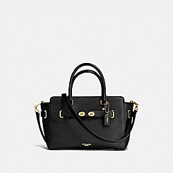 COACH BLAKE CARRYALL 25 IN BUBBLE LEATHER - IMITATION GOLD/BLACK - F55665