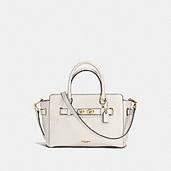 BLAKE CARRYALL 25 IN BUBBLE LEATHER - F55665 - IMITATION GOLD/CHALK