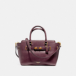 BLAKE CARRYALL 25 IN BUBBLE LEATHER - F55665 - LIGHT GOLD/OXBLOOD 1