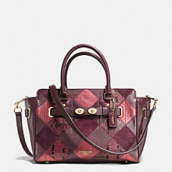 COACH BLAKE CARRYALL 25 IN METALLIC PATCHWORK LEATHER - IMITATION GOLD/METALLIC CHERRY - F55666