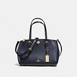 COACH TURNLOCK CARRYALL 26 - NAVY/LIGHT GOLD - F55680