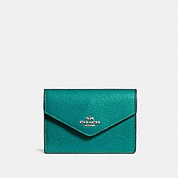 ENVELOPE CARD CASE - SV/TEAL - COACH F55749