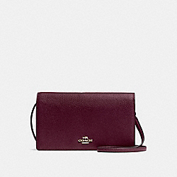 HAYDEN FOLDOVER CROSSBODY CLUTCH - LI/OXBLOOD - COACH F55775