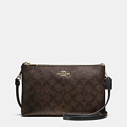 LYLA CROSSBODY IN SIGNATURE - f55900 - IMITATION GOLD/BROWN/BLACK