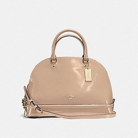 COACH f55922 SIERRA SATCHEL IN PATENT LEATHER IMITATION GOLD/PLATINUM