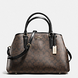 SMALL MARGOT CARRYALL IN SIGNATURE - f55932 - IMITATION GOLD/BROWN/BLACK