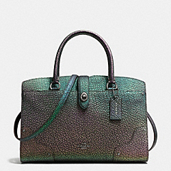 MERCER SATCHEL 30 IN HOLOGRAM LEATHER - f55943 - DARK GUNMETAL/HOLOGRAM