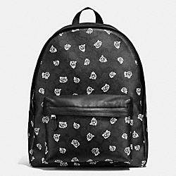 CHARLES BACKPACK IN FLORAL SIGNATURE PRINT COATED CANVAS - f55970 - BLACK/WHITE FLORAL