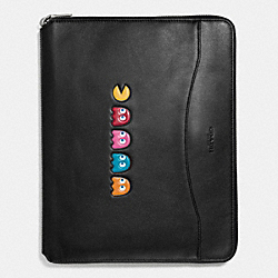 PAC MAN TECH CASE IN LEATHER - f56058 - BLACK