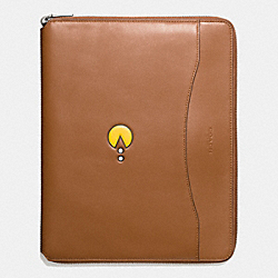 PAC MAN TECH CASE IN LEATHER - f56058 - SADDLE