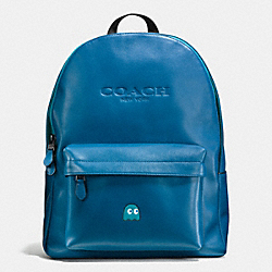 PAC MAN CHARLES BACKPACK IN CALF LEATHER - f56106 - DENIM