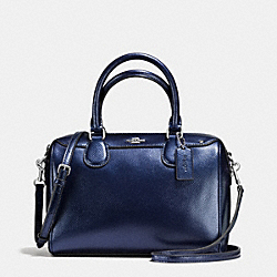 COACH MINI BENNETT SATCHEL IN METALLIC LEATHER - SILVER/METALLIC MIDNIGHT - F56125