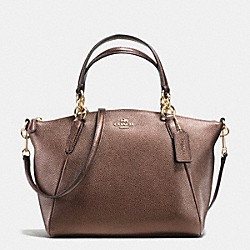 COACH SMALL KELSEY SATCHEL IN METALLIC LEATHER - IMITATION GOLD/BRONZE - F56127