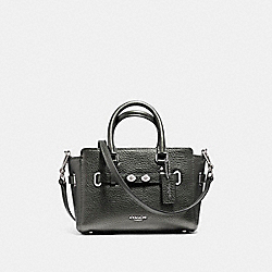 COACH MINI BLAKE CARRYALL IN METALLIC PEBBLE LEATHER - SILVER/GUNMETAL - F56138