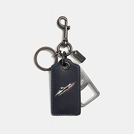 COACH ROCKET SHIP BOTTLE OPENER - NAVY - F56145