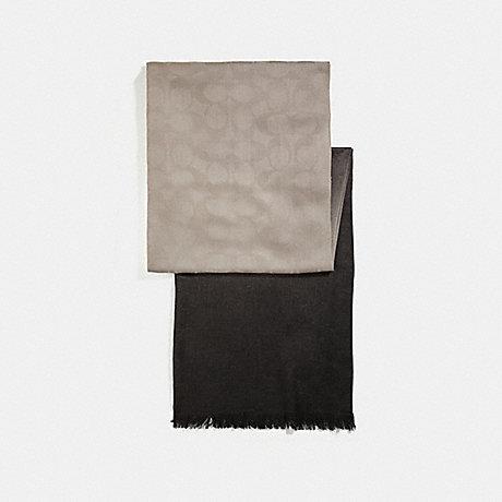 COACH OMBRE SIGNATURE WRAP - BLACK - f56159