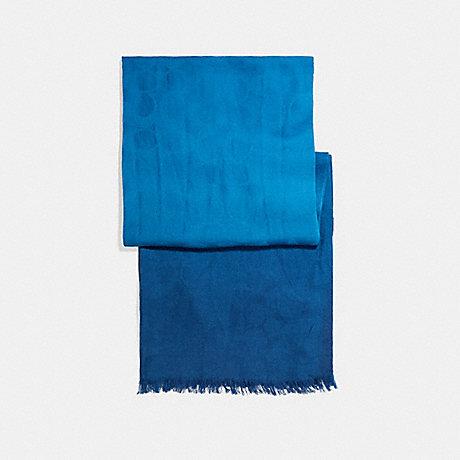 COACH OMBRE SIGNATURE WRAP - INK BLUE - F56159