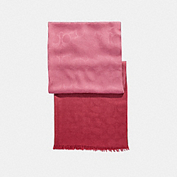 OMBRE SIGNATURE WRAP - ROUGE - COACH F56159
