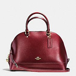 SIERRA SATCHEL IN METALLIC CROSSGRAIN LEATHER - f56191 - IMITATION GOLD/METALLIC CHERRY