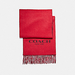 DOUBLE FACED MUFFLER - TRUE RED - COACH F56209