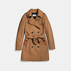 COACH WOOL TRENCH - FAWN - F56214