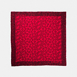 WILLOW FLORAL OVERSIZED SQUARE - f56243 - RED